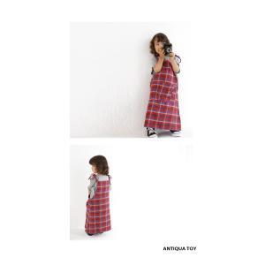 子供服 女の子 サロペット ワンピース ジャンパースカート チェックサロペット・5月25日20時〜再販。(30)メール便可|antiqua|08