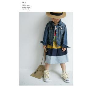 キッズ 子供服 女の子 ワンピース 切替え 半袖 designワンピース・(100)メール便可|antiqua|03