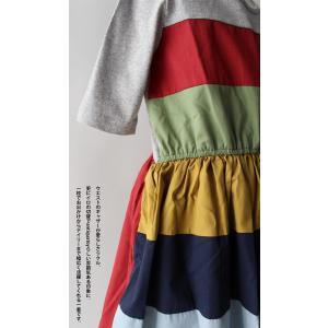 キッズ 子供服 女の子 ワンピース 切替え 半袖 designワンピース・(100)メール便可|antiqua|06