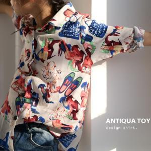 子供服  トップス 長袖 柄 グラフィック  アート柄シャツ・(30)メール便可|antiqua