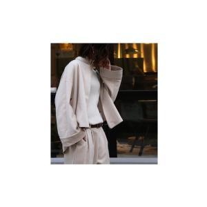 アウター ジャケット 長袖 レディース スエード調 伸縮性 ノーカラージャケット・11月9日20時〜発売。##メール便不可 antiqua 04