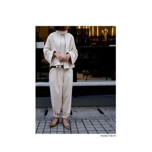 ボトムス パンツ レディース テーパード スエード調 テーパードパンツ・11月9日20時〜発売。##メール便不可|antiqua|15