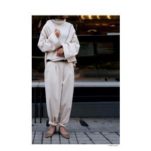 ボトムス パンツ レディース テーパード スエード調 テーパードパンツ・11月9日20時〜発売。##メール便不可|antiqua|03