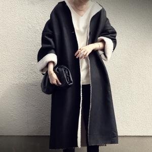 アウター コート ロングコート 長袖 レディース ロング デニムボアコート・11月2日20時〜発売。##メール便不可|antiqua