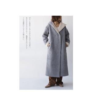 コート アウター ロング 柔らかい 軽量 裏ボアフーデッドコート・11月4日20時〜再販。##「G」メール便不可|antiqua|12