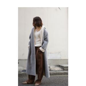 コート アウター ロング 柔らかい 軽量 裏ボアフーデッドコート・11月4日20時〜再販。##「G」メール便不可|antiqua|14