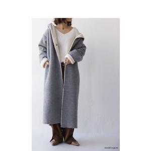 コート アウター ロング 柔らかい 軽量 裏ボアフーデッドコート・11月4日20時〜再販。##「G」メール便不可|antiqua|03