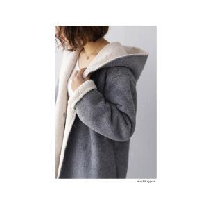 コート アウター ロング 柔らかい 軽量 裏ボアフーデッドコート・11月4日20時〜再販。##「G」メール便不可|antiqua|04