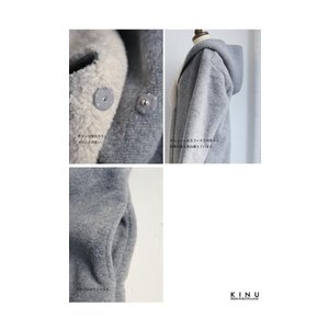 コート アウター ロング 柔らかい 軽量 裏ボアフーデッドコート・11月4日20時〜再販。##「G」メール便不可|antiqua|07