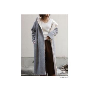 コート アウター ロング 柔らかい 軽量 裏ボアフーデッドコート・11月4日20時〜再販。##「G」メール便不可|antiqua|09