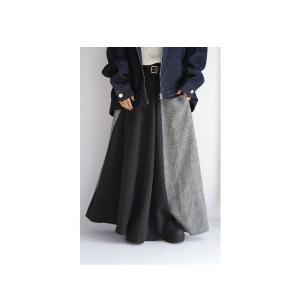 切り替えとボタンデザインで掻き立てる。チェックデザインスカート・10月9日20時〜再再販。##メール便不可 antiqua 16