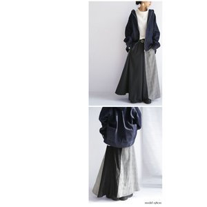 切り替えとボタンデザインで掻き立てる。チェックデザインスカート・10月9日20時〜再再販。##メール便不可 antiqua 04