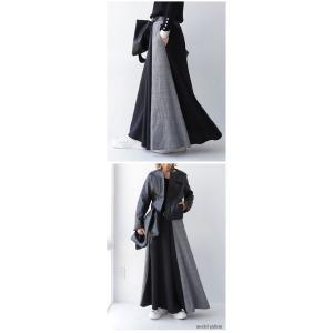 切り替えとボタンデザインで掻き立てる。チェックデザインスカート・10月9日20時〜再再販。##メール便不可 antiqua 10