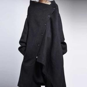 アウター コート ジャケット ブラック アシンメトリーコート・20時〜再販。「G」##メール便不可|antiqua