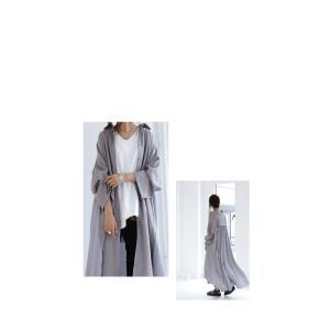 ワンピース レディース 長袖 ギャザー 羽織り 切替ギャザーワンピ・8月17日20時〜再再販。「G」##メール便不可 antiqua 13