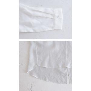 トップス シャツ 長袖 レディース シアー バンドカラー ロングプルオーバーシャツ・11月9日20時〜発売。(80)メール便可|antiqua|08