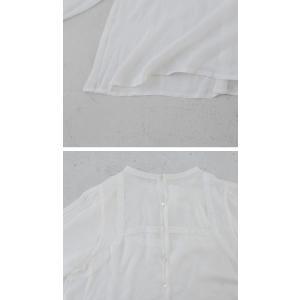 トップス プルオーバー レディース 長袖 ブラウス レース 透け感 刺繍シアートップス・1月15日20時〜発売。(50)メール便可|antiqua|11