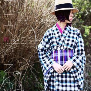 着物 チェック柄 和服 和装 セット お宮参り 着物・帯・付襟3点セット・再販。##「G」メール便不可|antiqua