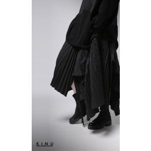 プリーツスカートの概念を崩す斬新さ。デザインスカート・11月10日20時〜再販。##メール便不可|antiqua|11