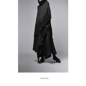 プリーツスカートの概念を崩す斬新さ。デザインスカート・11月10日20時〜再販。##メール便不可|antiqua|03