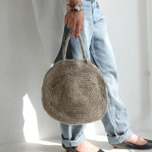 ジュートラウンドトート バッグ レディース 鞄 送料無料・6月10日0時〜発売。メール便不可 antiqua
