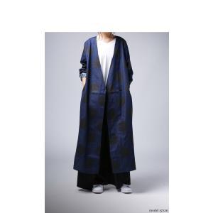 トップス 羽織り デニム 水玉 ドットデニムロングジャケット・10月3日20時〜再販。##「G」メール便不可 antiqua 12