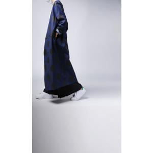 トップス 羽織り デニム 水玉 ドットデニムロングジャケット・10月3日20時〜再販。##「G」メール便不可 antiqua 04