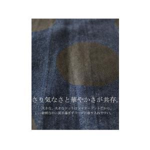 トップス 羽織り デニム 水玉 ドットデニムロングジャケット・10月3日20時〜再販。##「G」メール便不可 antiqua 06