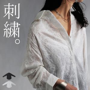 トップス シャツ 長袖 綿 綿100% 刺繍 ペイズリー柄 ペイズリー刺繍シャツ・7月6日20時〜再再販。(100)メール便可|antiqua