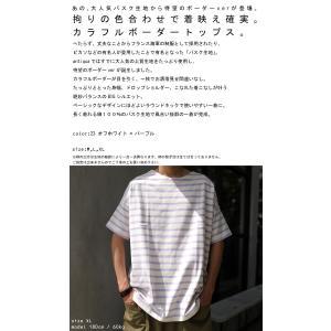 クリアランスバーゲン!期間限定開催!トップス プルオーバー メンズ 綿 ボーダーTシャツ・再販。100ptメール便可(返品・キャンセル・交換不可) antiqua 02