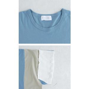 トップス 七分袖 メンズ 綿 プルオーバー Tシャツ カラーブロッキングビッグT・##メール便不可|antiqua|07