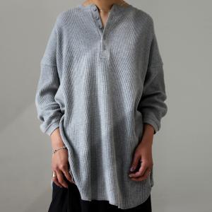 ヘンリーワッフルトップス Tシャツ レディース トップス 綿・4月10日0時〜再再販。メール便不可 母の日|antiqua