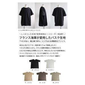 トップス Tシャツ メンズ 半袖 綿 クルーネックバスクT・100ptメール便可|antiqua|02