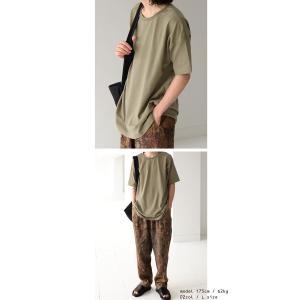トップス Tシャツ メンズ 半袖 綿 クルーネックバスクT・100ptメール便可|antiqua|12