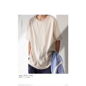 トップス Tシャツ メンズ 半袖 綿 クルーネックバスクT・100ptメール便可|antiqua|16