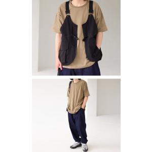 トップス Tシャツ メンズ 半袖 綿 クルーネックバスクT・100ptメール便可|antiqua|19
