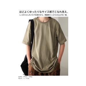 トップス Tシャツ メンズ 半袖 綿 クルーネックバスクT・100ptメール便可|antiqua|03