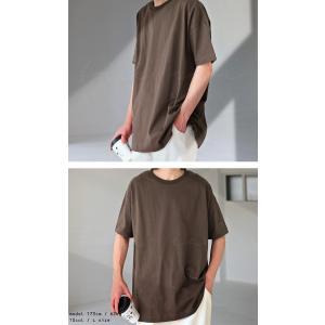 トップス Tシャツ メンズ 半袖 綿 クルーネックバスクT・100ptメール便可|antiqua|04