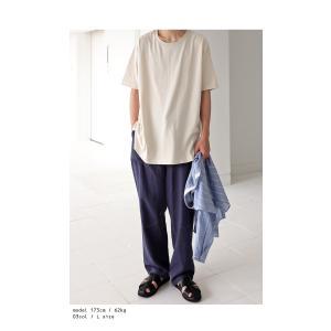 トップス Tシャツ メンズ 半袖 綿 クルーネックバスクT・100ptメール便可|antiqua|05
