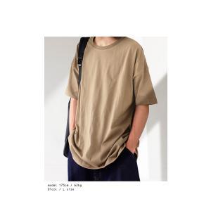 トップス Tシャツ メンズ 半袖 綿 クルーネックバスクT・100ptメール便可|antiqua|06