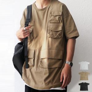 トップス Tシャツ メンズ 半袖 綿 綿100 クルーネック ポケット付きバスクT・5月27日20時〜発売。100ptメール便可|antiqua