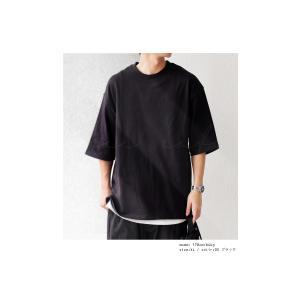 トップス Tシャツ メンズ 半袖 リブ 綿・8月5日0時〜再販。新色追加!既存色の発送は8/6〜 新色の発送は8/11〜。100ptメール便可 antiqua 16