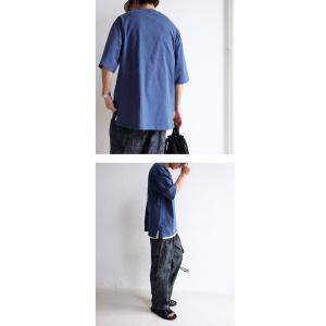 トップス Tシャツ メンズ 半袖 リブ 綿・8月5日0時〜再販。新色追加!既存色の発送は8/6〜 新色の発送は8/11〜。100ptメール便可 antiqua 21