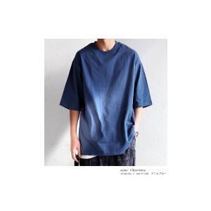 トップス Tシャツ メンズ 半袖 リブ 綿・8月5日0時〜再販。新色追加!既存色の発送は8/6〜 新色の発送は8/11〜。100ptメール便可 antiqua 05