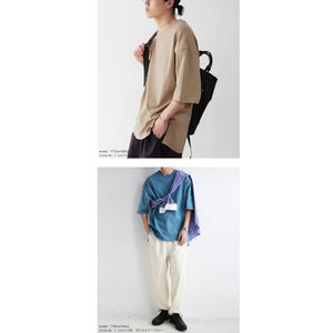 トップス Tシャツ メンズ 半袖 リブ 綿・8月5日0時〜再販。新色追加!既存色の発送は8/6〜 新色の発送は8/11〜。100ptメール便可 antiqua 08