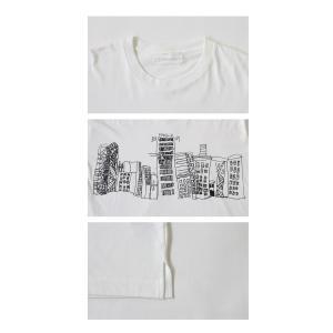 トップス メンズ 半袖 綿 綿100% Tシャツ ロゴT ブルックリンイラストTシャツ・メール便不可 antiqua 06