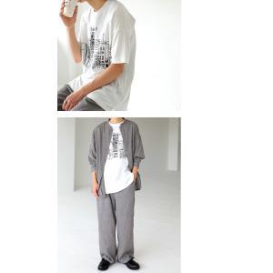 トップス メンズ 半袖 綿 綿100% Tシャツ ロゴT ブルックリンイラストTシャツ・メール便不可 antiqua 09