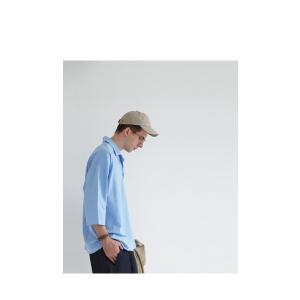 トップス シャツ 七分袖 メンズ 綿 オープンカラー 開襟スキッパーシャツ・「G」(100)メール便可|antiqua|14