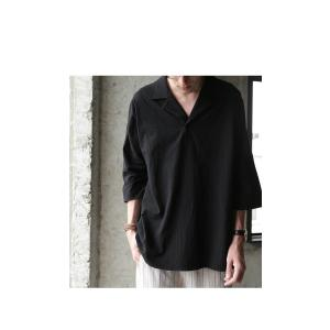 トップス シャツ 七分袖 メンズ 綿 オープンカラー 開襟スキッパーシャツ・「G」(100)メール便可|antiqua|15