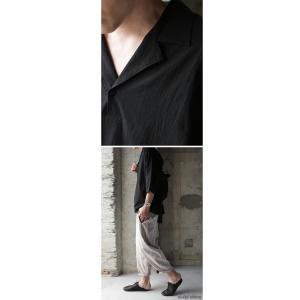 トップス シャツ 七分袖 メンズ 綿 オープンカラー 開襟スキッパーシャツ・「G」(100)メール便可|antiqua|16